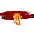 indonesia independence hand fist in with flag vector image vector image