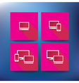 Internet service provider icons eps 10 vector image vector image