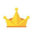 king crown symbol vector image vector image