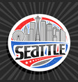 label for seattle vector image vector image
