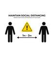 maintain social distancing keep safe distance vector image