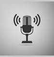 microphone icon on air radio mic microphone vector image