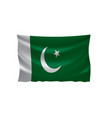 pakistan flag on a white vector image vector image