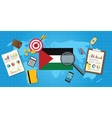 palestine economy economic condition country with vector image vector image