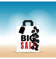 paper bag white with big sale and balloon on it vector image vector image