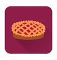 pie icon flat food icon vector image