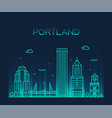 portland oregon usa linear art style city vector image vector image