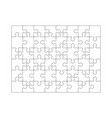 puzzle grid jigsaw detailed grid business vector image vector image