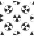 radioactive seamless pattern on white background vector image vector image