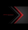 red metallic arrow direction on grey with black vector image vector image