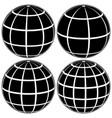 set black globe 3d model earth or the vector image