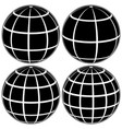 set black globe 3d model earth vector image