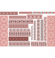 set ethnic patterns for embroidery stitch vector image vector image