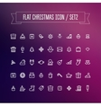 set flat christmas icons vector image