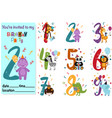 set isolated numbers with anniversaries vector image vector image