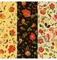 Set of floralseamless patterns Folk boho style vector image
