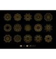 Set of the golden patterns vector image