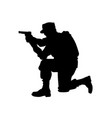silhouette military vector image vector image