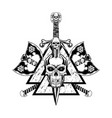 skull sword 2021 0002 vector image vector image