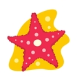 Starfish flat icon vector image