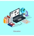The concept of a student workplace Education vector image vector image