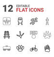 track icons vector image vector image