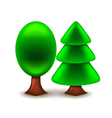 Trees icon isolated on white vector image vector image