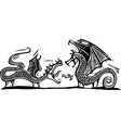 Two Dragons vector image vector image