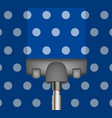 vacuum cleaner drains blue carpet vector image