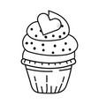 valntines day bakery cupcake cartoon vector image vector image