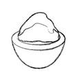 wasabi spicy food vector image