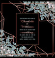 wedding invitation with eucalyptus vector image vector image