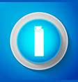white lighter icon isolated on blue background vector image