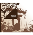 wrought iron sign vector image vector image