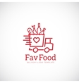 Favorite Food Delivery Abstract Concept vector image