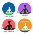 Yoga Logo and Emblem Set vector image