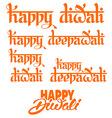 Diwali lettering vector image