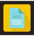 File DOC icon flat style vector image