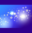 abstract light background bokeh effect hexagons vector image vector image