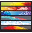 Abstract Paint Banners vector image vector image