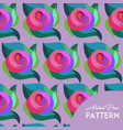 abstract rose pattern vector image