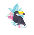 an of a nice toucan in format a cute toucan bird vector image vector image