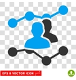Audience Trends Eps Icon vector image vector image