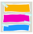 banner design with three different colors vector image vector image