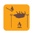 Barbecue Boar and Matches icon vector image vector image