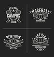 Baseball team emblems vector image vector image