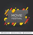 black badge cinema ticket sticker vector image
