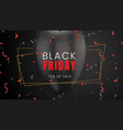 black friday sale abstract dark background vector image vector image