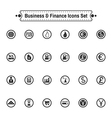 Buisiness icon set vector image vector image