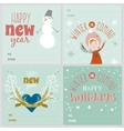 Cards with Christmas typographic and elements vector image vector image